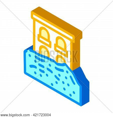 Heavy Rainfall Disaster Isometric Icon Vector. Heavy Rainfall Disaster Sign. Isolated Symbol Illustr