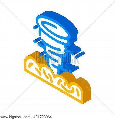 Hurricane Disaster Isometric Icon Vector. Hurricane Disaster Sign. Isolated Symbol Illustration