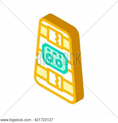 Ankle And Calf Stimulator Isometric Icon Vector. Ankle And Calf Stimulator Sign. Isolated Symbol Ill