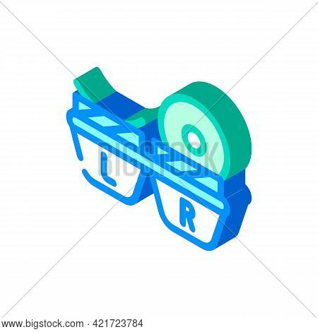 Lens Container Isometric Icon Vector. Lens Container Sign. Isolated Symbol Illustration