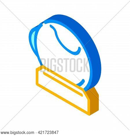 Artificial Eye Isometric Icon Vector. Artificial Eye Sign. Isolated Symbol Illustration