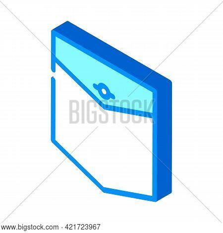 Western Pocket Isometric Icon Vector. Western Pocket Sign. Isolated Symbol Illustration