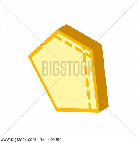 Patch Pocket For Workwear Isometric Icon Vector. Patch Pocket For Workwear Sign. Isolated Symbol Ill