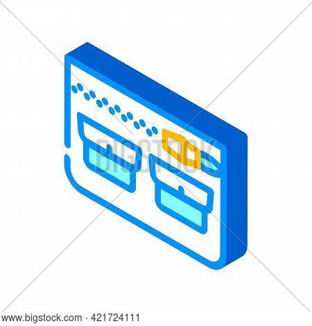 Universal Pocket Isometric Icon Vector. Universal Pocket Sign. Isolated Symbol Illustration