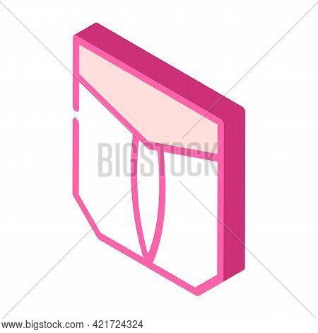 Outside Pocket Isometric Icon Vector. Outside Pocket Sign. Isolated Symbol Illustration