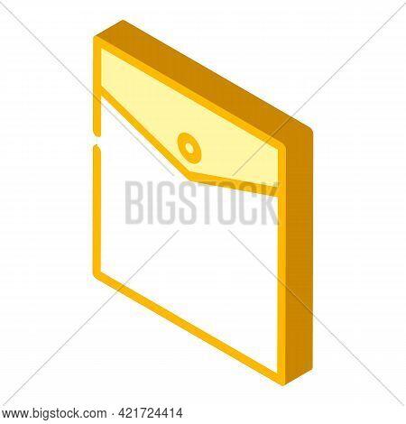 Inside Pocket Isometric Icon Vector. Inside Pocket Sign. Isolated Symbol Illustration