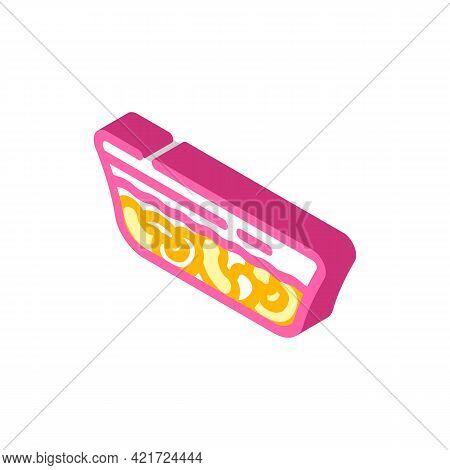 Fabada Spain Food Isometric Icon Vector. Fabada Spain Food Sign. Isolated Symbol Illustration