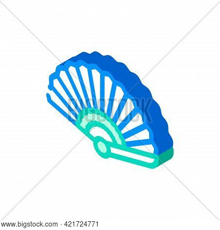 Fan Spain Isometric Icon Vector. Fan Spain Sign. Isolated Symbol Illustration