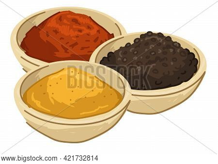 Asian And Seasoning, Food And Meal Powder