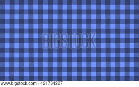 Blue Gray Purple Vintage Checkered Background. Space For Graphic Design. Checkered Texture. Classic