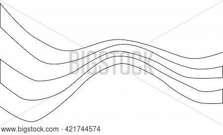A Treble Clef And Notes Are Drawn By A Single Black Line On A White Background. Continuous Line Draw