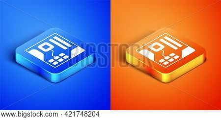 Isometric Electronic Computer Components Motherboard Digital Chip Integrated Science Icon Isolated O