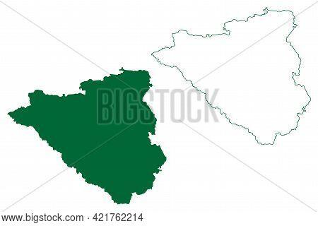 Nagpur District (maharashtra State, Nagpur Division, Republic Of India) Map Vector Illustration, Scr