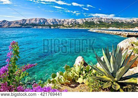 Baska. Idyllic Sea  Landscape In Town Of Baska, Island Of Krk In Kvarner Bay Of Croatia