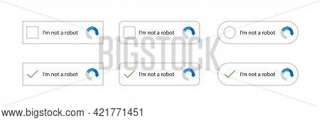 Recaptcha, I'm Not A Robot. Confirmed Recaptcha. I'm Not A Robot Button Set. Website Security. Inter