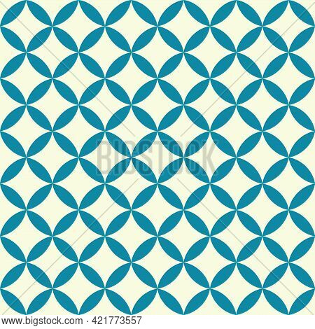 Mid Century Style Seamless Vector Pattern. Abstract Background .