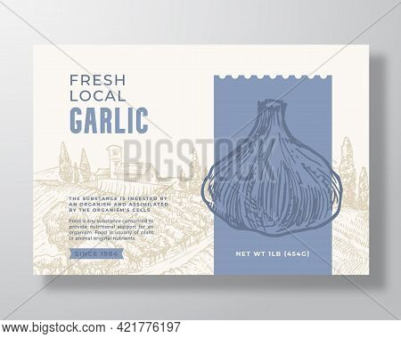 Vegetables Food Label Template. Abstract Vector Packaging Design Layout. Modern Typography Banner Wi