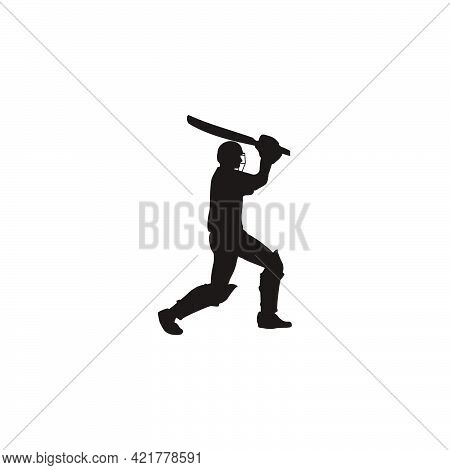 cricket athlete hitting the ball on cricket game - sport man cartoon hitting the ball isolated on white