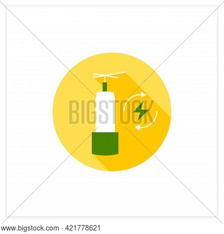Energy Storage Flat Icon. Long-duration Energy Warehouse. Manage Power. Electricity Concept. Vector