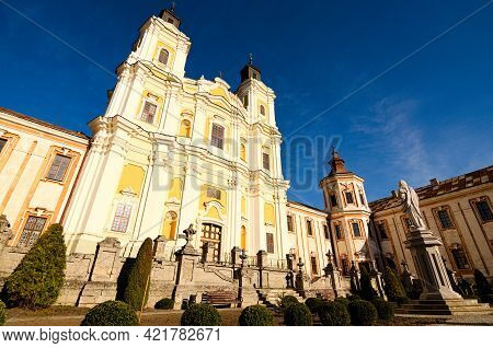 Wide-angle Landscape View Of Ancient Saint Ignatius Of Loyola And Stanislaus Kostka Church (former J