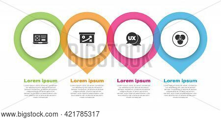 Set Ui Or Ux Design, Planning Strategy Concept, And Rgb And Cmyk Color Mixing. Business Infographic