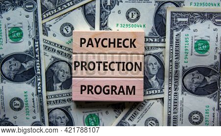 Ppp, Paycheck Protection Program Symbol. Concept Words Ppp, Paycheck Protection Program On Blocks On