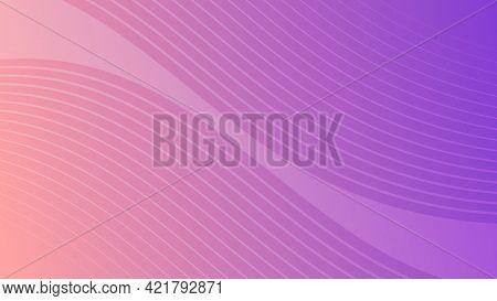 Modern Colorful Wave Curve Gradient Background. Velvet Minimal Abstract Presentation Backdrop. Vecto