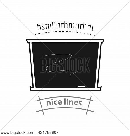 School Blackboard Simple Vector Icon. Blackboard Isolated Icon