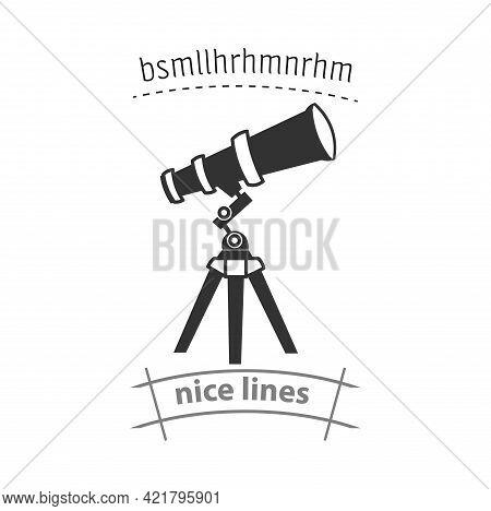 Telescope Simple Vector Icon. Telescope Isolated Icon