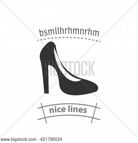 Woman Heel Simple Vector Icon. Woman Heel Isolated Icon