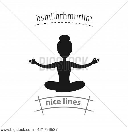 Woman In Lotus Position Simple Vector Icon. Lotus Position Isolated Icon
