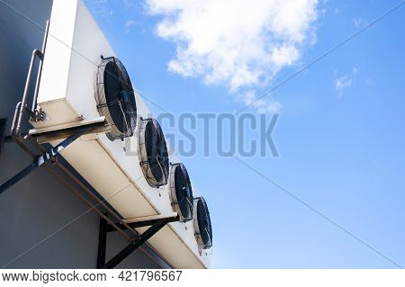 The Air Conditioning System Is Assembled On The Side Of The Building.
