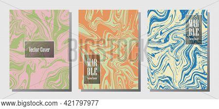 Geometric Marble Prints, Vector Cover Design Templates. Fluid Marble Stone Texture Iinteriors Fashio
