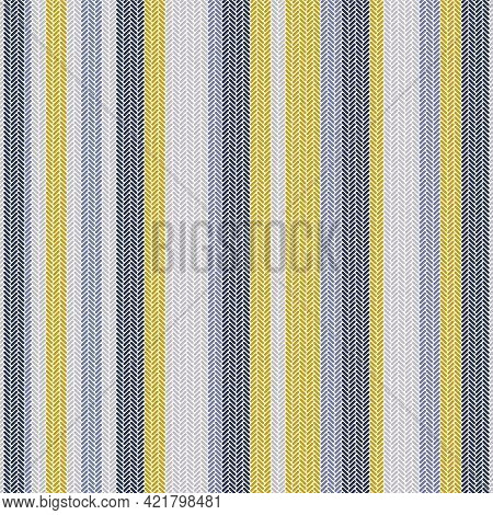 Stylish Menswear Vertical Stripes Seamless Pattern With Small Elements Ornament. Male Or Unisex Fash