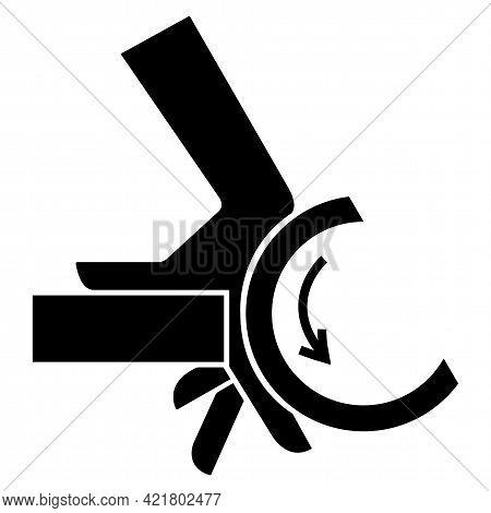Hand Crush Roller Pinch Point Symbol Sign