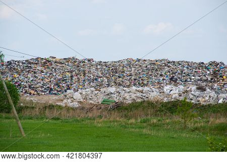 Landfill Of Household Garbage In Nature.environmental Disaster