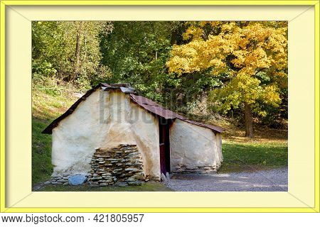 An Old Historical Chinese Workers Hut From The Gold Rush Days In Arrowtown New Zealand In A Yellow P