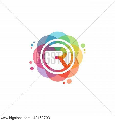 Colorful R Logo Vector, Fast R Logo Designs Template, Design Concept, Logo, Logotype Element For Tem