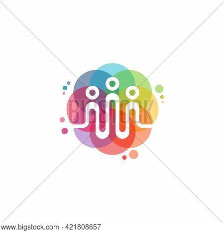 Colorful Pulse Logo Designs Concept Vector, Vibe Logo Symbol, Colorful Audio Logo Template