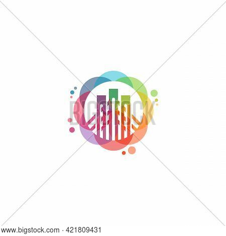 Colorful Bridge Logo Vector, Bridge Building Logo Designs Template, Design Concept, Logo, Logotype E