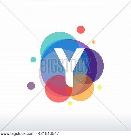 Abstract Y Initial Logo Designs Concept Vector, Colorful Letter Y Logo Designs