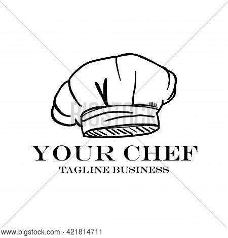 Chef Illustration Logo Restaurant. Chef Design Vector
