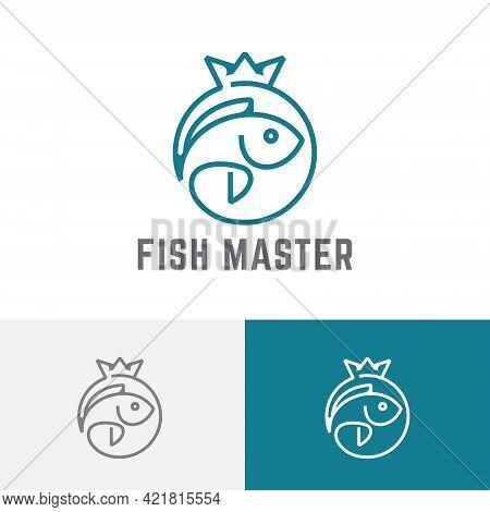Top Fishing King Master Circle Crown Logo