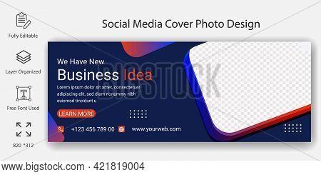 Social Media Cover Page Or Header Banner Template Design. Creative Business Agency Social Media Mark