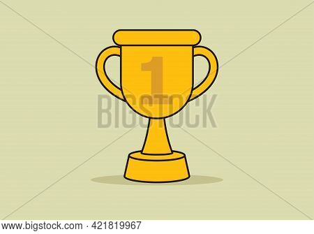 Trophy Icon Isolated On White Background From Startup Collection. Trophy Icon Thin Line Outline Line