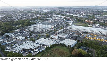 Aerial Panoramic View Of The Cheney Manor Area Of  Swindon, Wiltshire