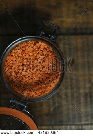 Organic orange lentil masoor dal