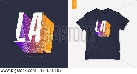 Los Angeles Letter T-shirt Design, Poster, Typography. Vector Illustration.