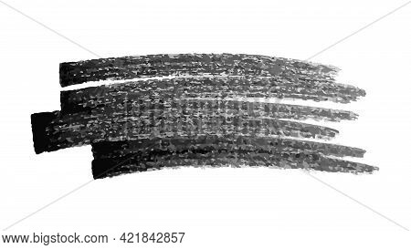 Scribble With A Black Marker. Doodle Style Scribble. Black Hand Drawn Design Element On White Backgr