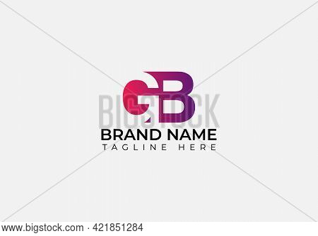 Initial Letter Gb Linked Circle Lowercase Logo Black Blue Icon Design Template Element